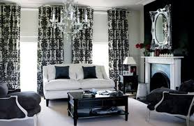 Design Black White Living Room Decorating Ideas