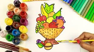 Small Picture How to Draw and Coloring Fruit Basket Coloring Pages for GirlsHow
