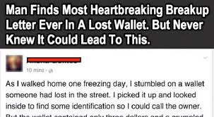 Breakup Letters A Lost Wallet With... The Most Heartbreaking Breakup Letter Ever