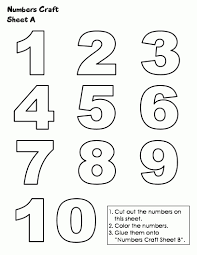Small Picture Coloring Pages 1 10 For Numbers glumme