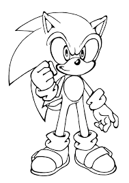 Awesome Printable Sonic Coloring Pages