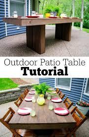Outdoor Table Decor Diy Outdoor Patio Table Tutorial Decor And The Dog