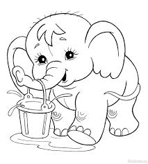 Tranh tô màu con voi đẹp và dễ thương nhất cho các bé