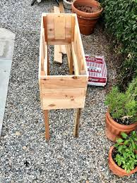 diy raised herb garden planter box