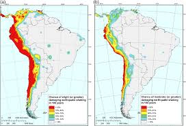 Comparison Maps Of South America Showing 100 Year Earthquake