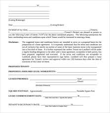 Real Estate Renting 14 Real Estate Letter Of Intent Templates Free Sample Example