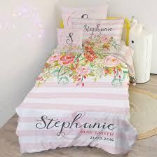 kids bedding sets. Bedding Kids Childrens Quilt Cover Duvet Doona Matching Pillowcase With Name Sets K