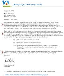 a fundraising letter
