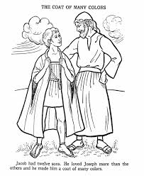 Free Coloring Pages Joseph Coat Many Colors High Quality