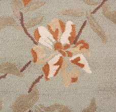 carpet 5x8. contemporary modern wool area rug carpet 5x8 hand-tufted green brown orange \