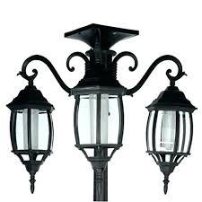 solar power lamp post light powered ft in tall solar lamp post and planter 3 heads solar power lamp post light