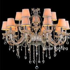 home clear glass crystal chandelier led lamps vintage chandeliers for with shade ideas 9