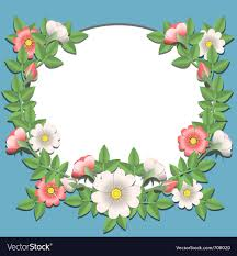 Paper With Flower Border Paper Flowers Border