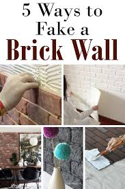 diy brick wall faux brick walls