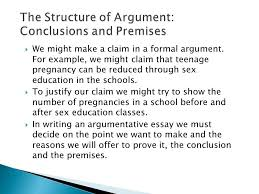 an argument consists of a conclusion the claim that the speaker  we might make a claim in a formal argument