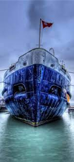Ship, dock, HDR style 1125x2436 iPhone ...