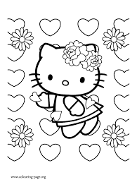 Small Picture Valentines Day Hello Kitty on Valentines Day coloring page