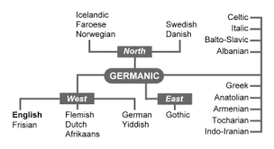 Germanic Branch Chart History Of English Englishclub