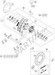 Rear wheel ktm 350 sx f 2016 eu