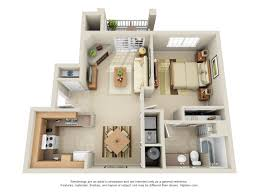 Floor Plans - Three bedroom apartments denver