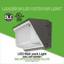 Outdoor Wall Pack Led Lighting Snc Wp 60wb1 China Ul Dlc 60w Led Wall Pack Light Fixture