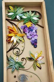 Paper Flower Frame Handcraft Artificial Flower Photo Frame For Decorations