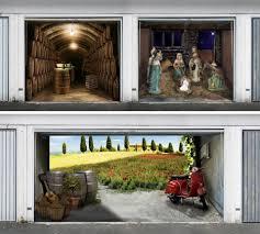 garage door muralsSuburban Camouflage 14 Lifelike 3D Garage Door Murals