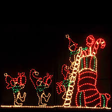 christmas rope lighting. animated rope light christmas motif lighting o