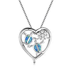 OMZBM Exquisite 925 Sterling Silver Heart-Shaped ... - Amazon.com