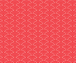 Japanese Pattern Mesmerizing Red Japanese Wave Seamless Pattern Vector Art Graphics