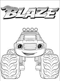 Blaze Free Printable Coloring Pages
