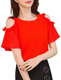 Ximandi Women's Chiffon Work Office Off Shoulder ... - Amazon.com