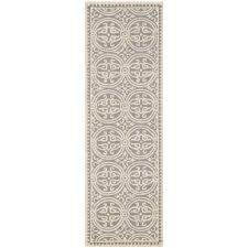 cambridge silver ivory 3 ft x 6 ft runner rug