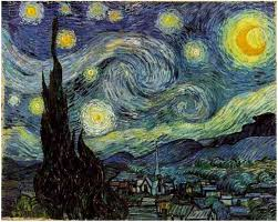 image only van gogh starry night
