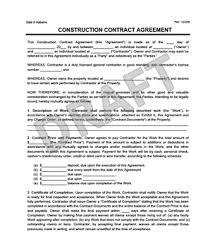 Contract Forms For Construction Free Construction Contract Forms Barca Fontanacountryinn Com