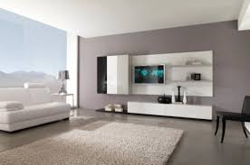 View in gallery Smart combination of white decor with floating black shelves