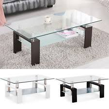 modern glass furniture. Modern Glass Chrome Wood Coffee Table Shelf Rectangular Living Room Furniture