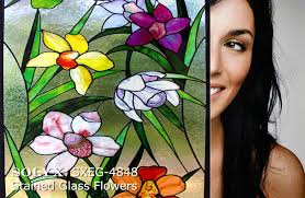 stained glass flowers 1 2