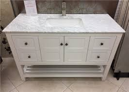 rectangle sink white marble bathroom countertops with cabinet 36 inch wide