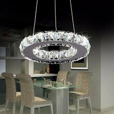 led chandelier crystal light crystal ring dining light wth 8 watt led light bulb for aisle