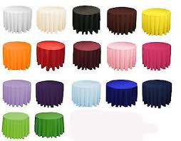 10 round 120 polyester tablecloths 5ft table cover high quality made in usa