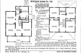 american foursquare floor plan from sears book of modern homes number 102 for 2065