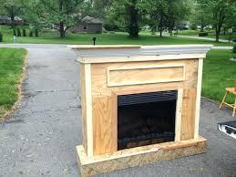 build a mantel for electric fireplace 1045 diy insert fireplce