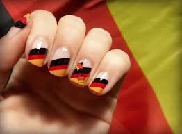 Red And Yellow Nail Designs Black Red And Yellow Stripes German Flag Nail Art
