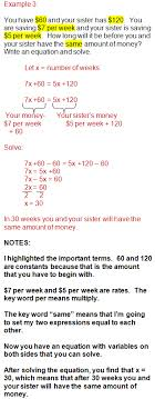 linear equation word problems worksheet