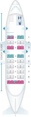 De Havilland Dash 8 400 Seating Chart Seat Map Us Airways Bombardier De Havilland Dash 8 100