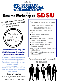San Diego Resume Student Resume Workshop At SDSU San Diego Society Of Professional 2
