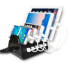multi phone charging station. China Charging Station 5-port USB Charger Quick Charge Dock, Cell Phone Multi O