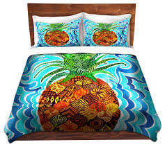 dianoche duvet covers twill psychedelic pineapple tropical duvet covers and duvet