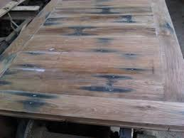 36 round unfinished reclaimed wood table top